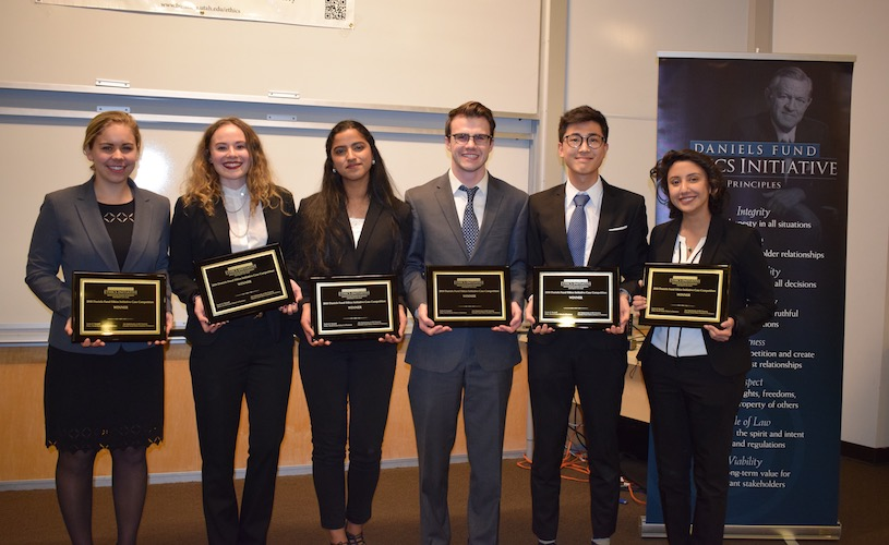 Congratulations to the ethics case competition winners!